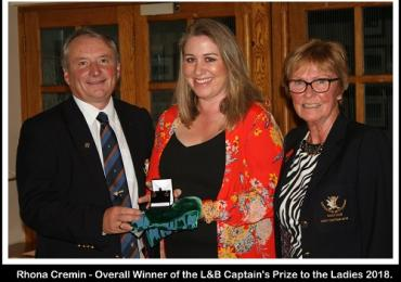 Rhona Wins Captain's Prize