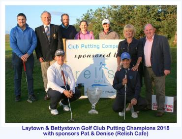 L&B Putting Competition - Kindly Sponsored by Relish Cafe
